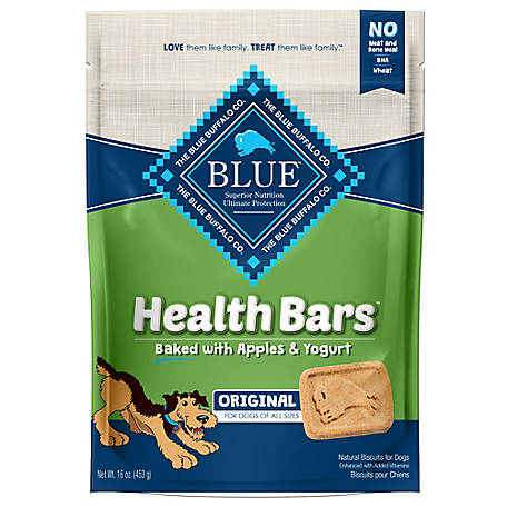 Blue Buffalo BLUE Health Bars Baked with Apples and Yogurt Natural Crunchy Dog Treat Biscuits, 16 oz.