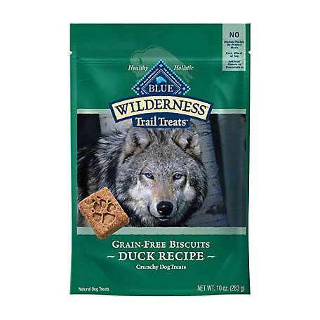 Blue Buffalo Wilderness Trail Treats Duck Biscuits Grain-Free Natural Crunchy Dog Biscuits, 10 oz.