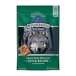 Blue Wilderness Trail Treats Duck Biscuits Grain-Free Natural Crunchy Dog Biscuits