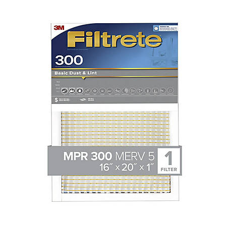 3M Filtrete Basic Dust Filter, 16 in. x 20 in. x 1 in.