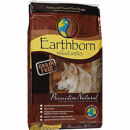 Earthborn Holistic Primitive Natural Grain-Free Dry Dog Food, 14 lb.