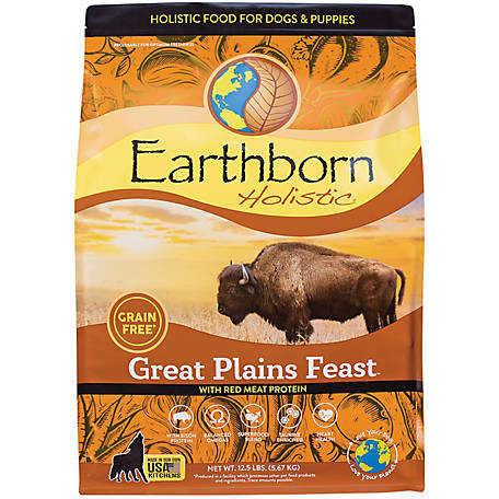 Earthborn Holistic Great Plains Feast Grain-Free Dry Dog Food, 14 lb.