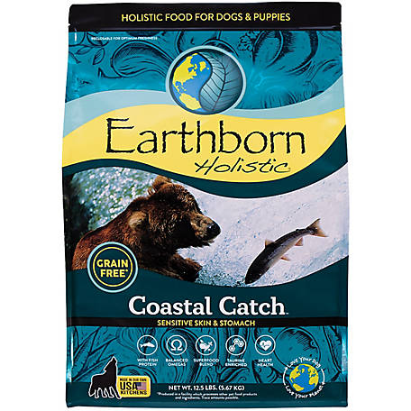 Earthborn Holistic Coastal Catch Grain-Free Dry Dog Food, 14 lb.