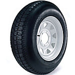 Carrier Star Trailer Tire and 6-Hole Custom Spoke Wheel (5/4.5), 225/75D-15 LRD