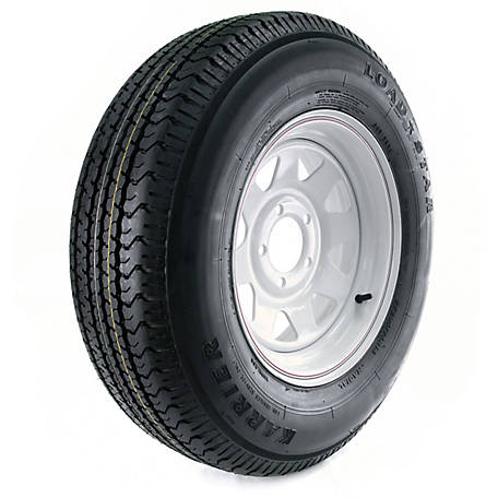 Kenda Karrier Radial Trailer Tire and 5-Hole Custom Spoke Wheel (5/4.5), 205/75R-14 LRC