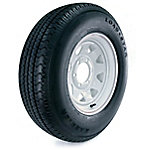 Kenda Loadstar Karrier Radial Trailer Tire and 6-Hole Custom Spoke Wheel (5/4.5), 225/75R-15 LRD