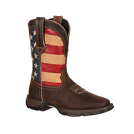 Durango Women's Lady Rebel 10 in. Pull-On Flag Boot
