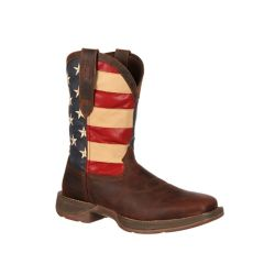 Shop Durango Men's Rebel 10 in. Pull-On Flag Boot at Tractor Supply Co.