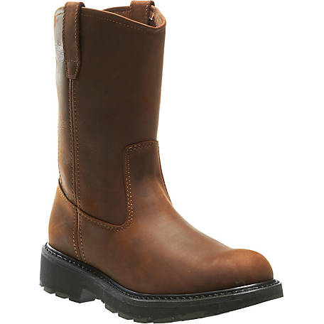 Wolverine Men's Slip Resistant 9 in. Wellington Work Boot