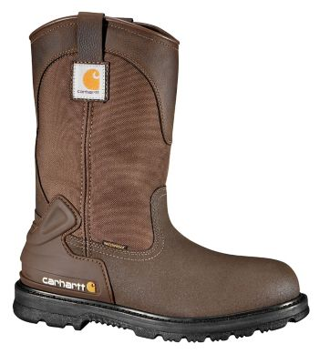 20e9eb0bb6e5c Carhartt Men's 11 in. Bison Waterproof Mud Wellington Boot with Safety Toe