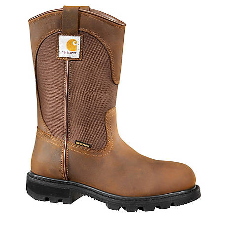 Carhartt Women's 11 in. Bison Waterproof Wellington Safety Toe Boot