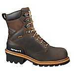 Carhartt Men's 8 in. Crazy Horse Waterproof Logger Boot with Safety Toe