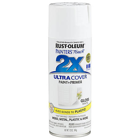 Rust-Oleum Rust-Oleum Painter's Touch 2X Ultra Cover Spray Paint, Gloss, White, 12 oz., 249090