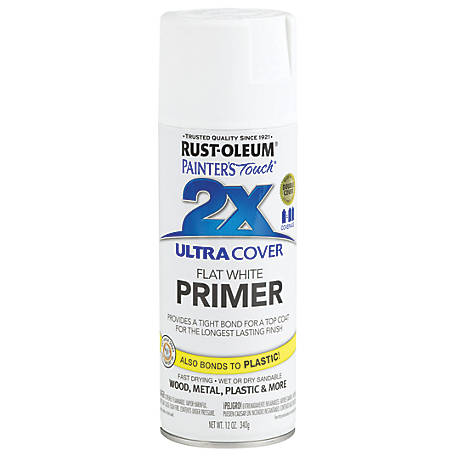 Rust-Oleum Rust-Oleum Painter's Touch 2X Ultra Cover Spray Primer, Flat, White, 12 oz., 249058