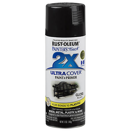 Rust-Oleum Rust-Oleum Painter's Touch 2X Ultra Cover Spray Paint, Gloss, Black, 12 oz., 249122