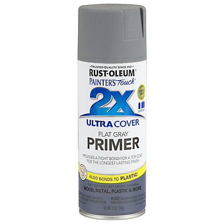 Rust-Oleum Rust-Oleum Painter's Touch 2X Ultra Cover Spray Primer, Flat, Gray, 12 oz., 249088