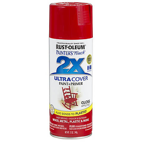 Rust-Oleum 2X Ultra Cover Gloss 12 oz. Spray, Apple Red