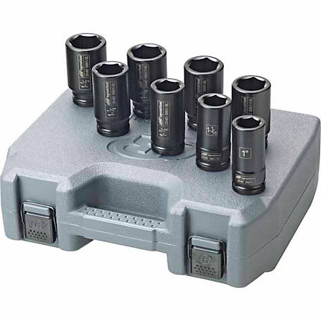 Ingersoll Rand EDGE Series 8 Piece Deep SAE Impact Socket Set, 3/4 in. Drive