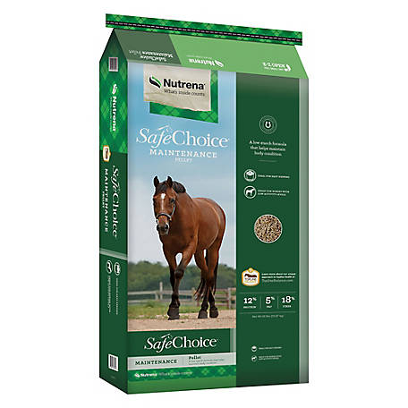Nutrena SafeChoice Maintenance Horse Feed, 50 lb.