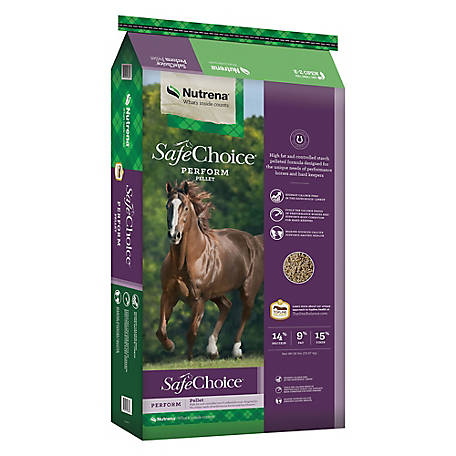 Nutrena SafeChoice Perform Horse Feed, 50 lb.