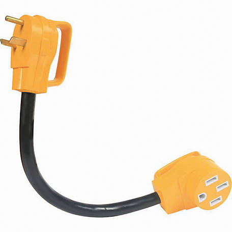 Camco 30M/50F AMP 18 in. PowerGrip Dogbone Adapter