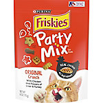 Friskies Party Mix Crunch Original Cat Treats, 6 oz. Pouch