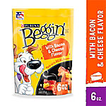 Purina Beggin' Strips Made in USA Facilities Dog Training Treats; Bacon & Cheese Flavors, 6 oz. Pouch