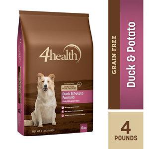 4health Puppy Food >> 4health Grain-Free Duck & Potato Formula Dog Food, 4 lb ...