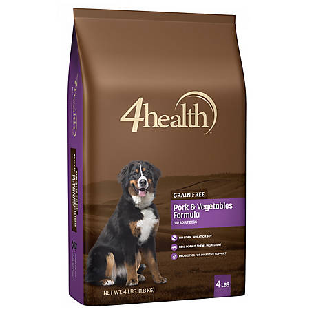 4health Grain Free Pork & Vegetables Formula Dog Food, 4 lb. Bag
