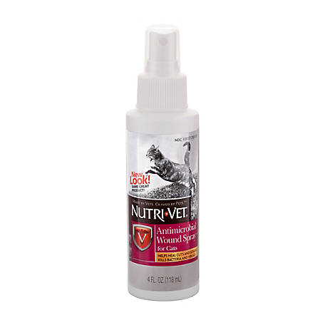 Nutri-Vet Antimicrobial Wound Spray for Cats, 4 oz., 1001022