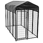 Lucky Dog Outdoor Pet Playpen with Roof and Water-Resistant Cover