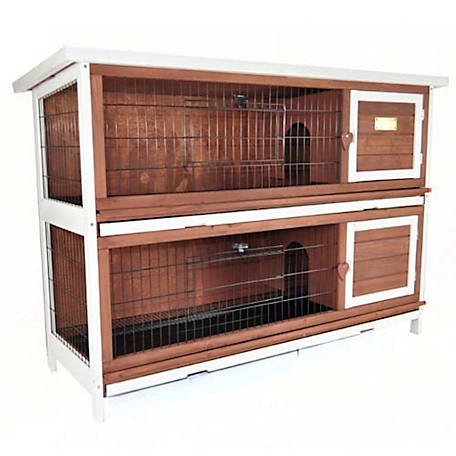 Advantek The Duplex Rabbit Hutch, Auburn