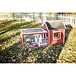 Advantek White Picket Fence Rabbit Hutch, Auburn