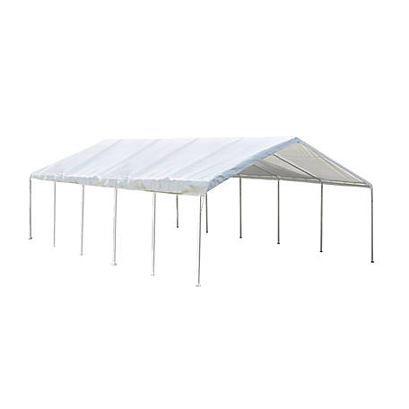 ShelterLogic Super Max Premium Canopy, White, 18 ft. x 30 ft.