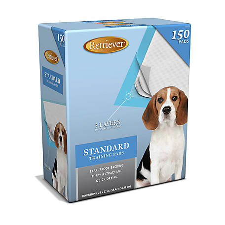 Retriever Standard Pet Training and Puppy Pads, Pack of 150
