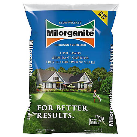 Milorganite 5-4-0 Fertilizer, 32 lb. Bag, 100539618