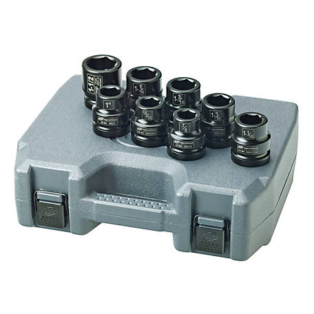 Ingersoll Rand Impact 8 Piece SAE Socket Set, 1 in. Drive