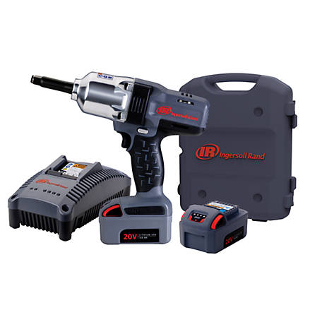 Ingersoll Rand 1/2 in. Cordless Impact Kit, 2 Battery