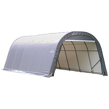 Shelterlogic Round Style Shelter Gray 12 Ft X 20 Ft X 8 Ft At