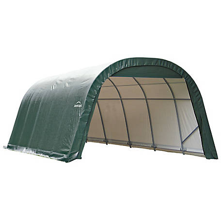 ShelterLogic Round Style Shelter, Green, 12 ft. x 20 ft. x 8 ft., 71342