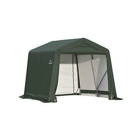 ShelterLogic Peak Style Shelter, Green, 8 ft. x 12 ft. x 8 ft.
