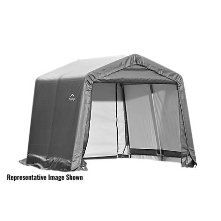 ShelterLogic Peak Style Shelter, Gray, 10 ft. x 12 ft. x 8 ft.
