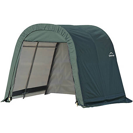 ShelterLogic Round Style Shelter, Green, 8 ft. x 8 ft. x 8 ft., 76804