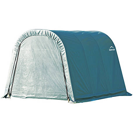 ShelterLogic Round Style Shelter, Green, 8 ft. x 12 ft. x 8' ft., 76814