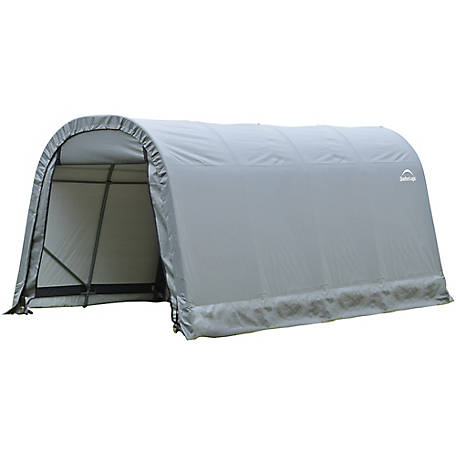 ShelterLogic Round Style Shelter, Gray, 8 ft. x 16 ft. x 8 ft., 76823