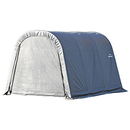 ShelterLogic Round Style Shelter, Gray, 10 ft. x 12 ft. x 8 ft., 77813