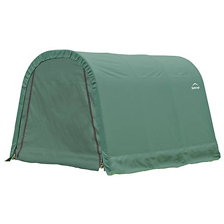 ShelterLogic Round Style Shelter, Green, 10 ft. x 12 ft. x 8 ft., 77814