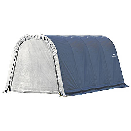 ShelterLogic Round Style Shelter, Gray, 10 ft. x 16 ft. x 8 ft., 77823