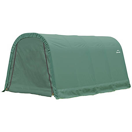 ShelterLogic Round Style Shelter, Green, 10 ft. x 16 ft. x 8 ft., 77824