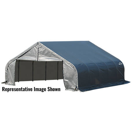 ShelterLogic Peak Style Shelter, Gray, 18 ft. x 24 ft. x 11 ft.